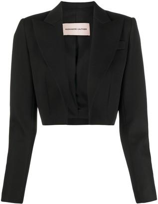 Alexandre Vauthier Cropped Tuxedo Jacket