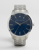 Armani Exchange Ax2166 Silver Bracelet Watch With Blue Dial