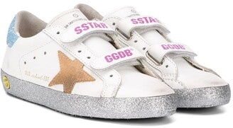 Golden Goose Kids Superstar touch-strap trainers