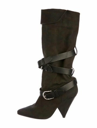 Isabel Marant Dark Camo Knee-High Boots Green