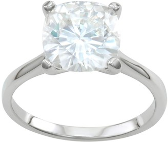 Charles & Colvard 14k White Gold 4 1/5 Carat T.W. Lab-Created Moissanite Solitaire Engagement Ring