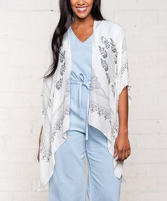 Gardenia Biz Enterprises Women's Kimono Cardigans  Egyptian Tile Short Kimono - Women