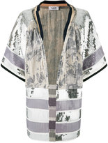 Aviu embellished open front jacket - women - Cotton/Polyamide/Polyester/Spandex/Elastane - 40