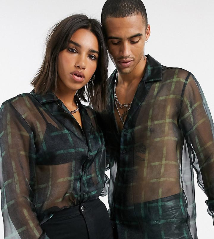 Reclaimed Vintage unisex sheer shirt