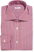 Kiton Multi-Stripe Cotton Dress Shirt, Red