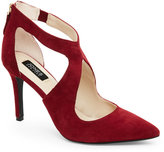 Jones New York Burgundy Christie Pointed Toe Cutout Pumps