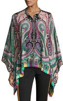 Etro Psychedelic Paisley Silk Blouse, Multicolor