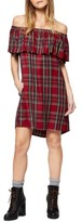Sanctuary Women's Stella Plaid Off The Shoulder Dress