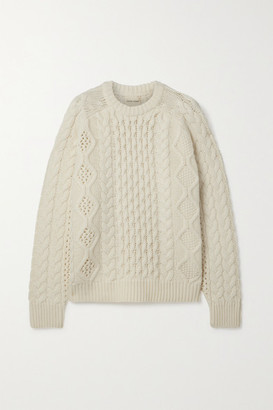 LOULOU STUDIO Cable-knit Wool And Cashmere-blend Sweater - Cream