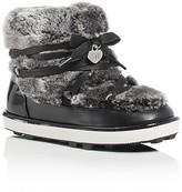 Stuart Weitzman Girls' Ariana Faux Fur Snow Booties - Toddler