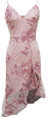 Dorothy Perkins Womens Chi Chi London Multi Colour Floral Embroidered Lilliana Dress