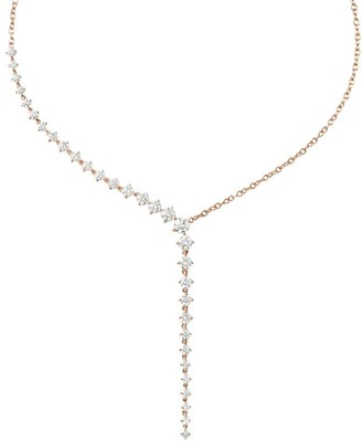 Melissa Kaye Rose Gold And Diamond Aria Cascade Necklace