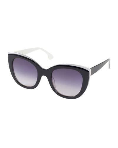 Alice + Olivia Mercer Two-Tone Cat-Eye Sunglasses