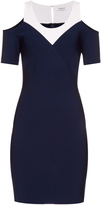 Thierry Mugler Bi-colour stretch-crepe dress