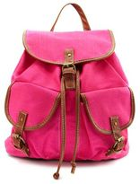 Neon Pink Canvas Backpack