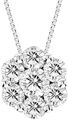 Suzy Levian Diamonds Suzy Levian 14K 0.25 Ct. Tw. Diamond Cluster Pendant Necklace