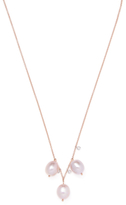 Meira T 14K Rose Gold, Pearl & 0.07 Total Ct. Diamond Trio Necklace