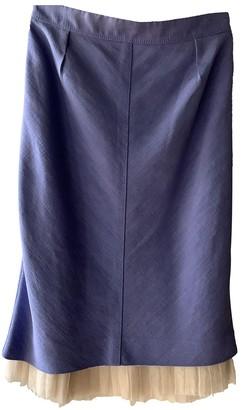 Louis Vuitton Purple Linen Skirt for Women