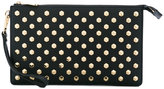 MICHAEL Michael Kors studded clutch - women - Leather - One Size
