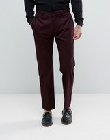 Religion Skinny Cropped Pant In Burgundy