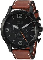 Fossil Mens JR1524 Nate Chronograph Luggage Leather Watch