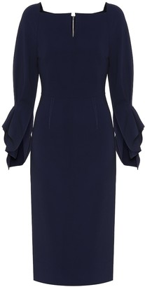 Roland Mouret Rosslare stretch-crepe midi dress