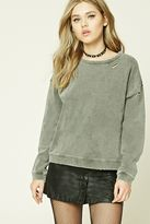 Forever 21 Distressed Acid Wash Sweatshirt
