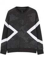 Neil Barrett Modernist Pinstriped Neoprene Sweatshirt