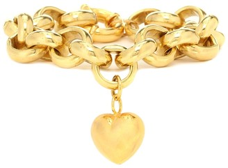 Timeless Pearly Exclusive to Mytheresa a Gold-plated bracelet with heart charm