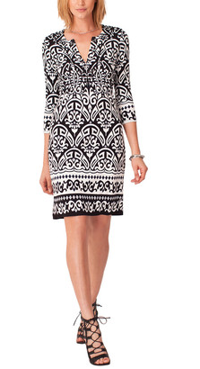 Hale Bob 3/4-Sleeve Mini Dress