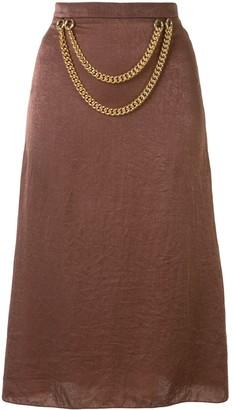 0711 Chain Detail Skirt