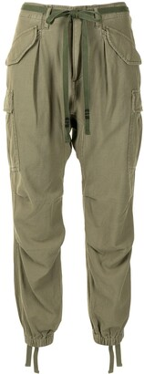 R 13 Drop-Crotch Multi-Pocket Trousers