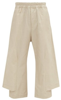 By Walid Robin Cotton-canvas Trousers - Cream Multi