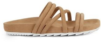J/Slides Tess Leather Flatform Slides