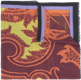 Etro Paisley Pattern Cashmere Scarf