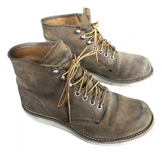 Red Wings Khaki Suede Ankle boots