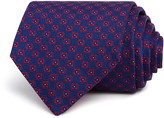 Turnbull & Asser Woven Geometric Grid Wide Tie