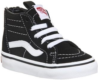 Vans Sk8 Hi Zip Toddler Black White