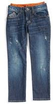 Armani Junior Distressed Straight Leg Jeans (Little Boys & Big Boys)