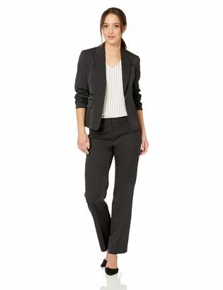 Le Suit LeSuit Women's Petite 1 Button Notch Collar Pinstripe Pant Suit