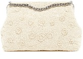 La Regale Fully Beaded Floral Pouch Clutch