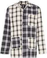 Liam Hodges check print cotton pyjama shirt