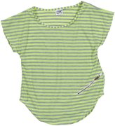 Erge Paris Striped Jersey Top (Kid) - Neon Lime-X-Large