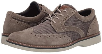 Nunn Bush Barklay Wing Tip Oxford (Stone Multi) Men's Shoes