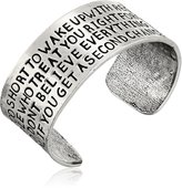 """Alisa Michelle Back To Basics"""" -Plated Life Is Too Short Cuff Bracelet"""