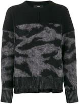 Diesel loose-fit panelled jumper