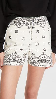 Tory Burch Printed Denim Shorts