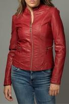 LA Coalition Red Leather Jacket