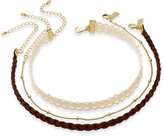 INC International Concepts Gold-Tone 3-Pc. Set Faux Suede Choker Necklaces, Only at Macy's