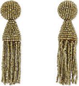Oscar de la Renta Classic beaded tassel clip-on earrings